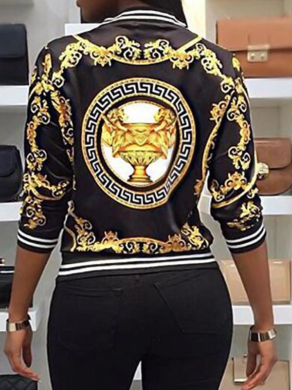 Lovely Polyester Fashion Regular Long Sleeve Coat&