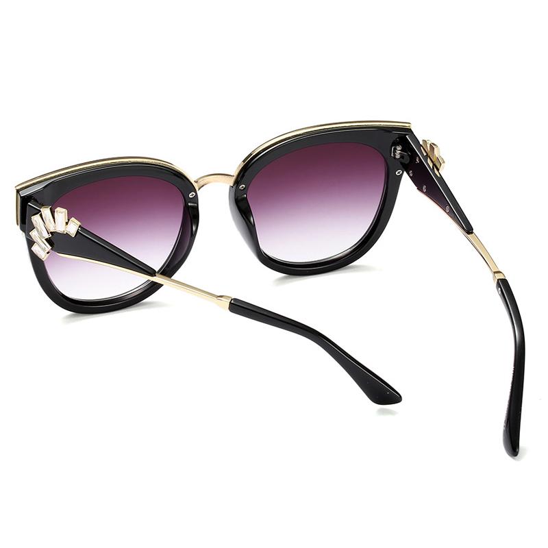 Fashion Cat Eye Design Grey PC Sunglasses