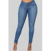 Lovely Casual Skinny Blue Jeans