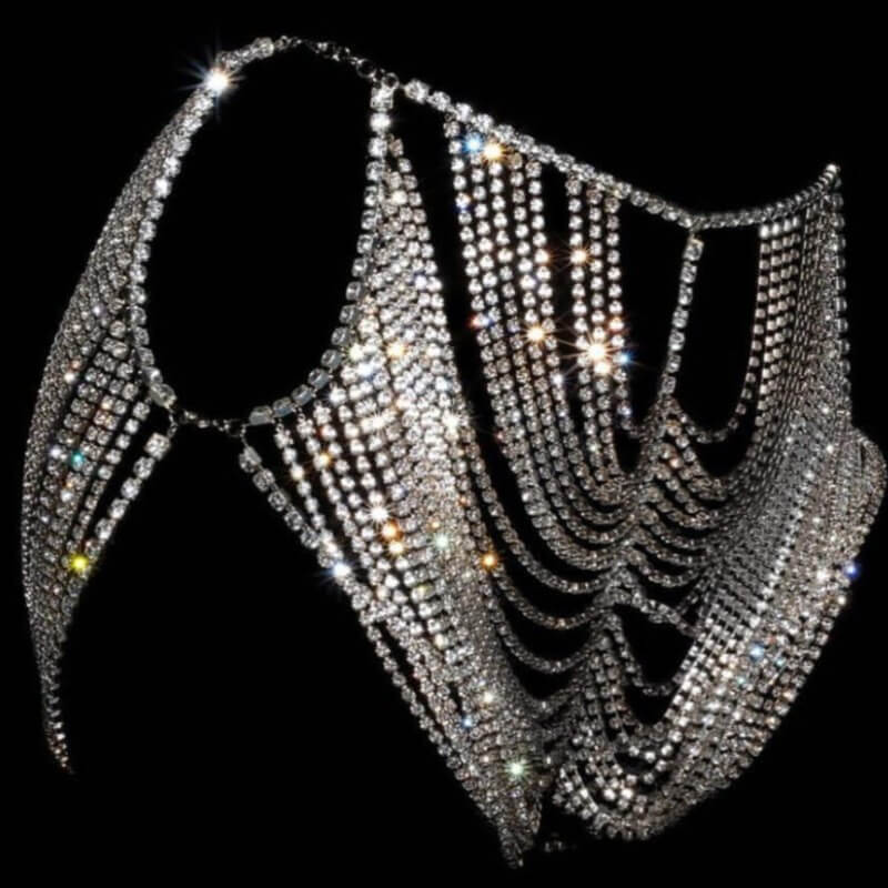Lovely Sexy Hollow-out Silver Intimates Accessorie