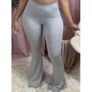 Lovely Casual Basic Skinny Grey Pants