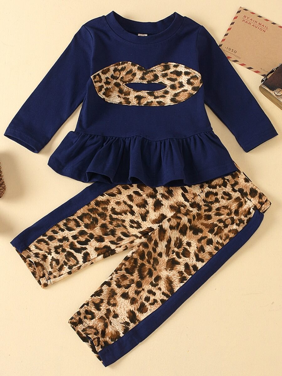 Lovely Girl Casual Flounce Design White Two-piece