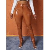 Lovely Casual Basic Skinny Khaki Pants