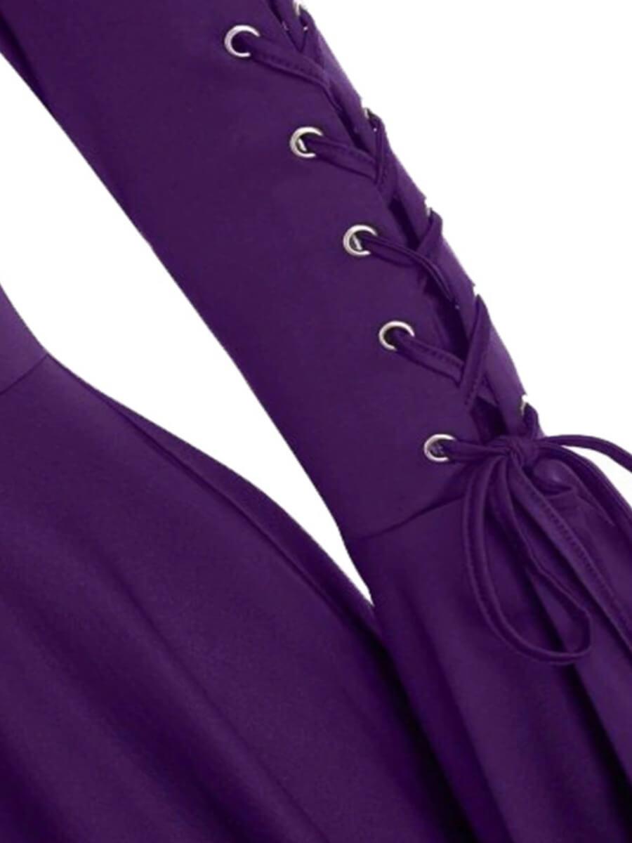 Lovely Sweet Hooded Collar Bandage Design Asymmetr
